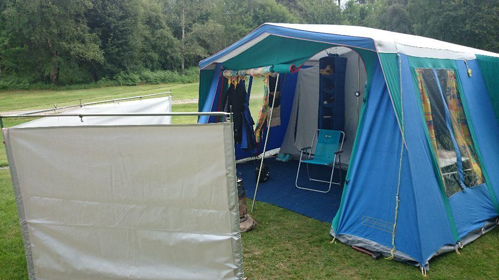 Fantastic canvas frame tent. Sunncamp Chalet 4 : large 4 berth ...