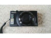 Nikon Coolpix S8200 digital camera in box + carry case