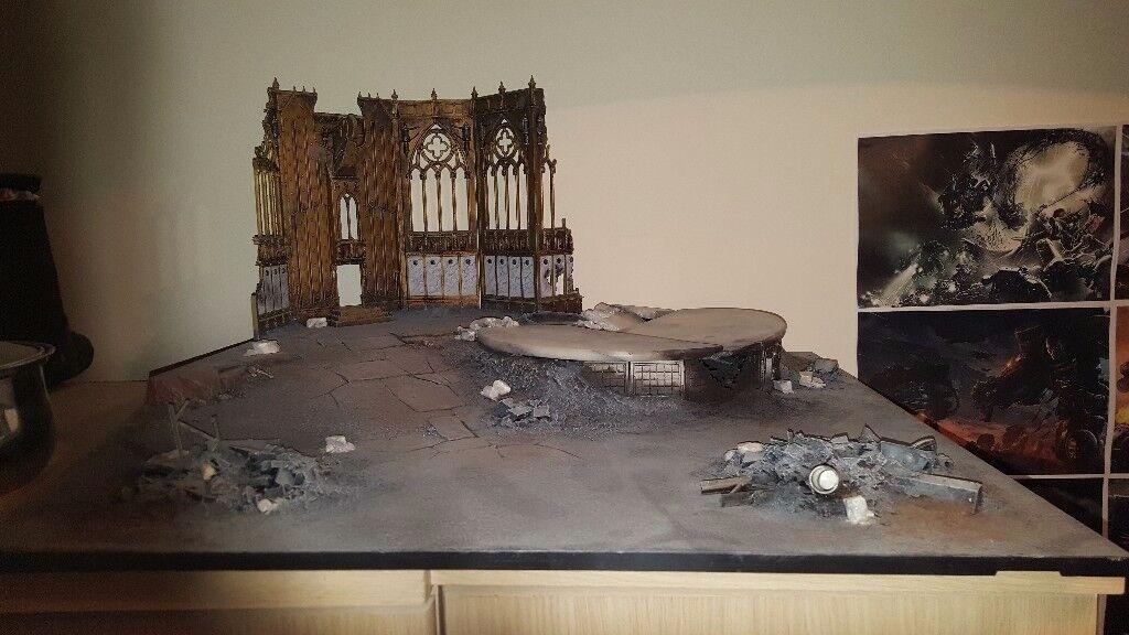 Warhammer 40k, Warhammer, Miniature 2ft x 2ft gaming board