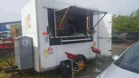 Burger van with rented private pitch