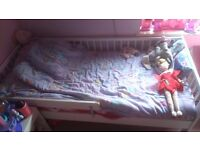 White Toddler bed with Foam Mattress