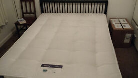 King size bed and frame - half price - nearly new - immediate sale