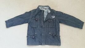 boys lined denim jacket 3-4 years. Next. vgc