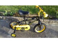 KIDS CHILDREN BOYS STINGER 12'' WHEELS WITH STABALIZERS BIKE BICYCLE