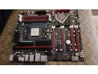 Crosshair V Formula Motherboard Plus AMD 990FX Processor