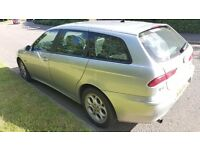 Cheap Alfa romeo 1.6 petrol 88k.mot till January 2017.electric windows and the exhaust is blowing.