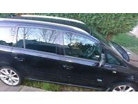 Vauxhall Zafira 2006 Black, Good Runner, New Battery, 5 Months MOT, Low Profile Alloys.