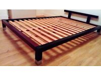 Ikea wooden double bed frame in excellent condition