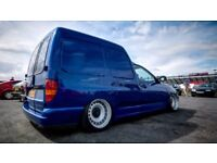 Bmw e30 Vw golf caddy banded steel wheels, 16inch, 4x100 stance slammed