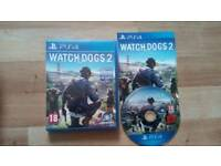 PS4 WATCH DOGS 2 MINT CONDITION
