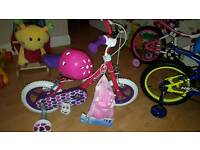 "Brand new 12"" girls bike"