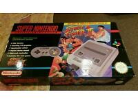 SNES IMMACULATE BOXED WITH GAME nintendo