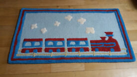 Little Trading Co Quality Child's Pure Wool Bedroom or Playroom Train Rug