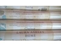 8 rolls of Laura Ashley superior Quality Wallpaper Claissa Duck Egg Special Edition