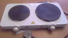 Twin ring electric plate