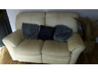 2&3 seater reclining sofas cream leather