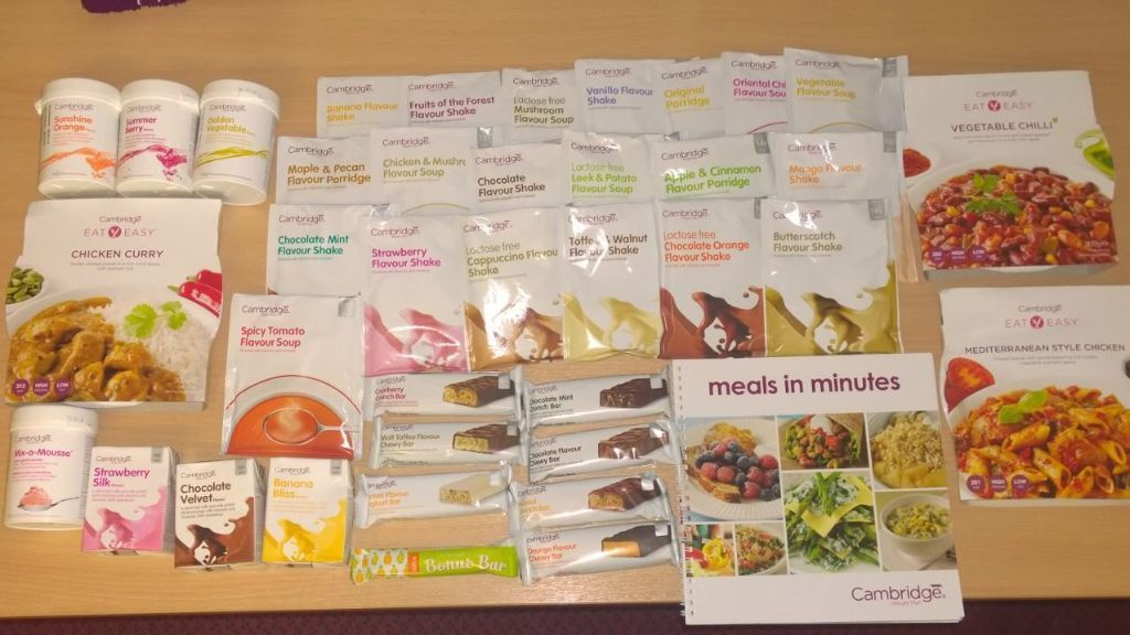 Cambridge diet 21 products 21 day supply shakes soups porridge