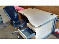 chair desk ped