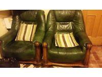 Leather 2 sofa sets