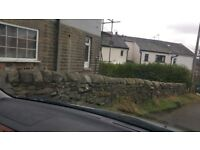 Yorkshire stone wall toppers complete wall over 100 feet