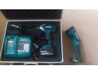 Makita DHP458Z 18v drill and torch for sale