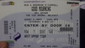 Mrs Browns Boys spare ticket