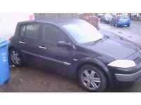 black megane low mileage ( just passed mot yesterday) REDUCED FOR QUICK SALE
