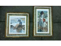 Two rare Shirley valentine Ltd edition artworks, coa,collected by the queen