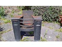 victorian cast iron fireplace width 62cm height 55cm depth 23cm