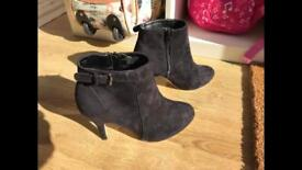 Black suede ladies ankle boots