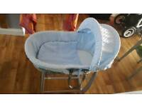 Clair De Lune Blue Moses Basket
