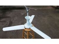 WHITE THREE BLADE COMMERCIAL CEILING FAN