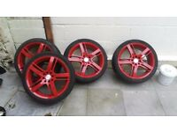 17 inch multifit alloys with tyres