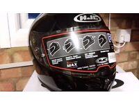 **BRAND NEW IN BOX **HJC FG-ST GLOSS BLACK FULL FACE MOTORCYCLE HELMET (SIZE MED)