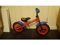 Spiderman Balance Bike Ideal for 2-3 year olds
