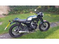 Brand new hanway cafe racer 125 only 11 miles 1800 ovno no time wasters