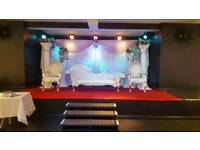 Wedding, Mehndi Stages, Floral Stages, House Lighting, Walkways, & Chair covers For Hire