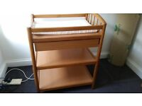sturdy changing table with sliding drawer
