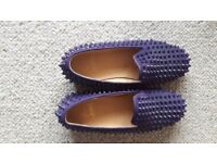 RARE Louboutin Purple Rollerboy in brand new condition.