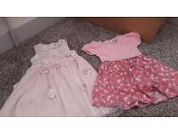 2 x girls dresses size 12-18 months