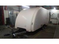 Used Brian James Covered Enclosed Car Transporter Race Tiltdeck / Tiltbed Trailer