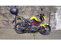 KSR GRS125 yellow 2016 motorbike