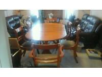 dining Table with 6 chairs open to offers!