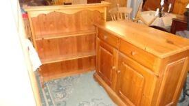 solid pine kitchen dresser