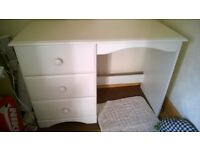 White desk dressing table drawers very good condition