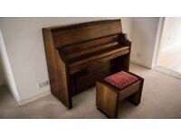 Stunning 1958 Bentley Resonoura, London Upright Small Piano With Stool