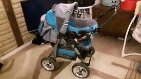 Baby Pram/Buggy/Pushchair/Stroller Speed 3in1 umbrella + Car seat + Carrycot