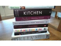 Stack of used cookery books