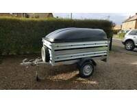 Brenderup New Car trailer 1205s +extension sides+Abs lid-spare wheel included.