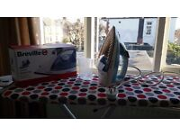 Breville iron and ironing board